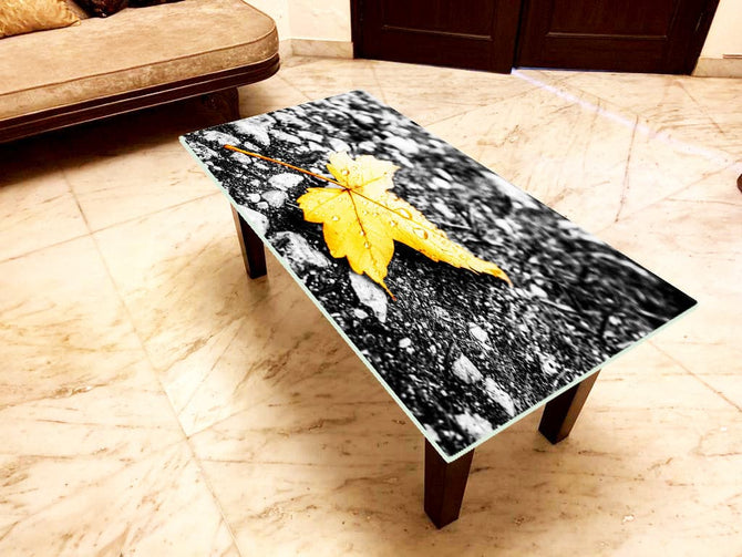 Designer Center/Coffee Table with Glass Top - FGCT-14