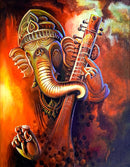 Beautiful Wall Painting for Home: LORD GANESHA COLORFUL OIL PAINTINGS