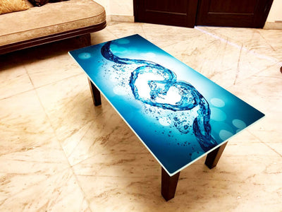 Designer Center/Coffee Table with Glass Top - FGCT-15