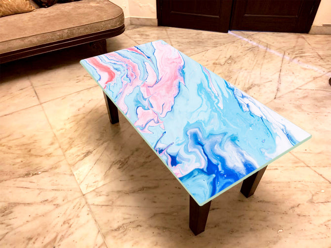 Designer Center/Coffee Table with Glass Top - FGCT-36
