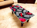 Designer Center/Coffee Table with Glass Top - FGCT-18