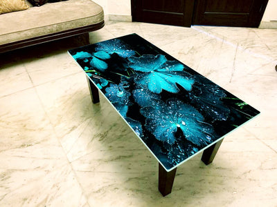 Designer Center/Coffee Table with Glass Top - FGCT-21