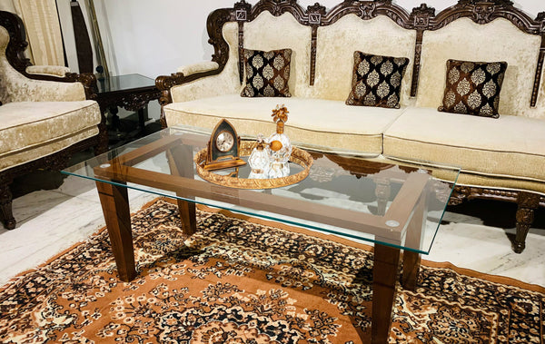 Rectangular Clear Glass Coffee table