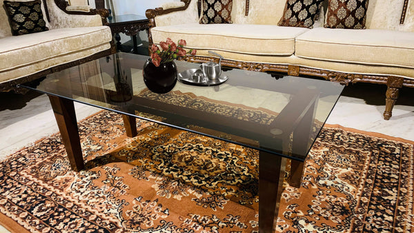 Bronze/Brown Tinted Glass Table (Saint-Gobain)