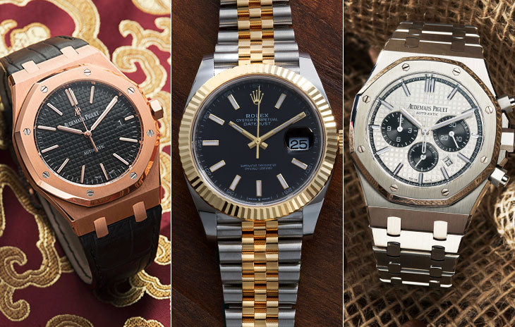 Audemars Piguet Royal Oak, Rolex Datejust Two-Tone, Audemars Piguet Royal Oak