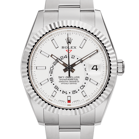 New Rolex Sky-dweller 326934 White Dial