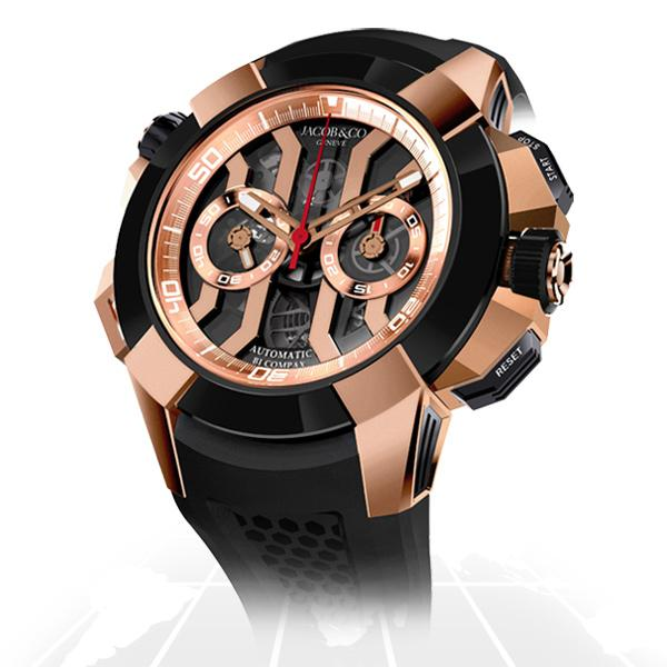 Jacob & Co	Epic X Chrono Rose Gold	Ec311.42.pd.bn.a A.t.o Watches