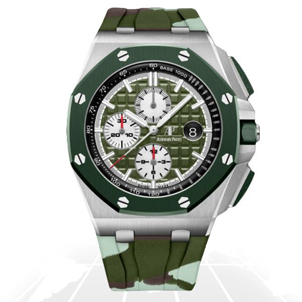 Audemars Piguet	Royal Oak Offshore Green Camouflage	26400So.oo.a055Ca.01 Latest Watches