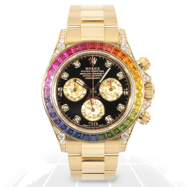 Rolex	Cosmograph Daytona Rainbow	116598Rbow Latest Watches