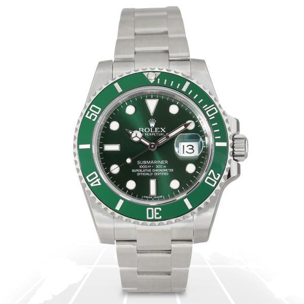 "Rolex Submariner Date ""Hulk"" Fully Stickered 116610LV"