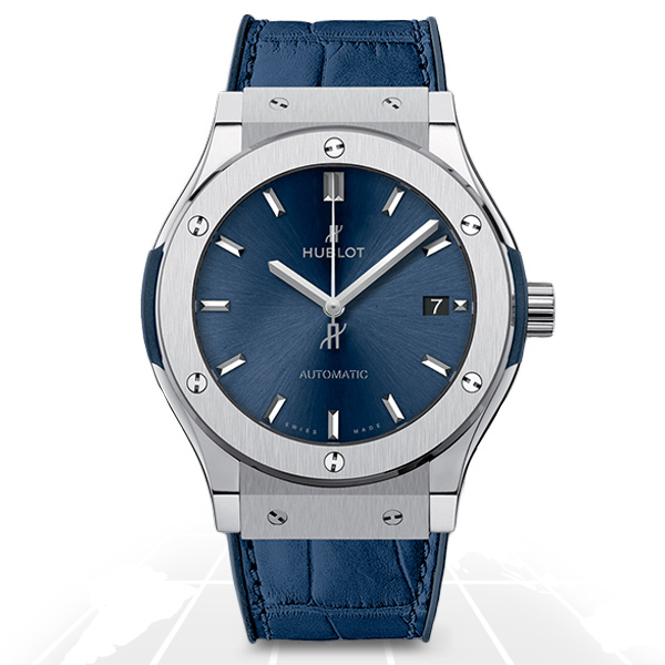 Hublot	Classic Fusion Blue Titanium 45Mm	511.nx.7170.lr A.t.o Watches