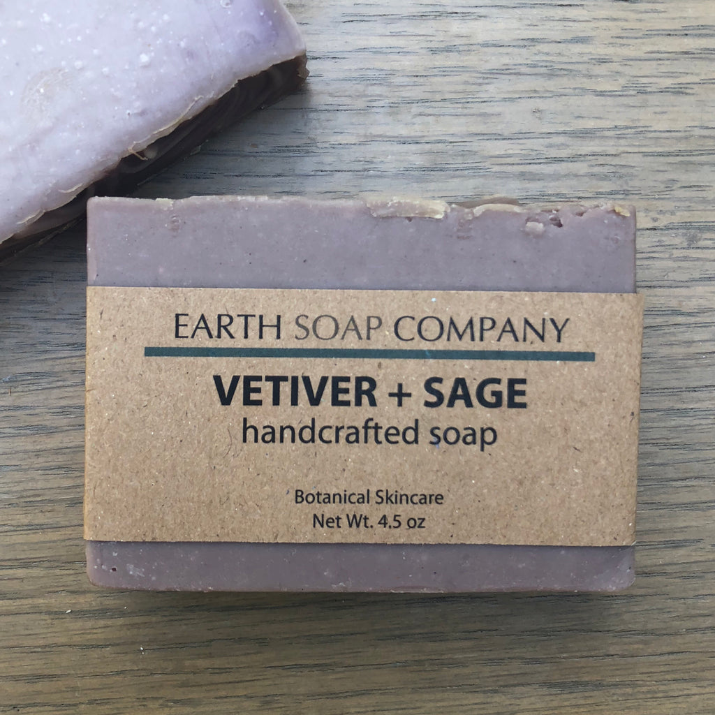 Vetiver + Sage Handcrafted Artisan Soap