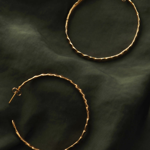 Beaten Hoop Earrings