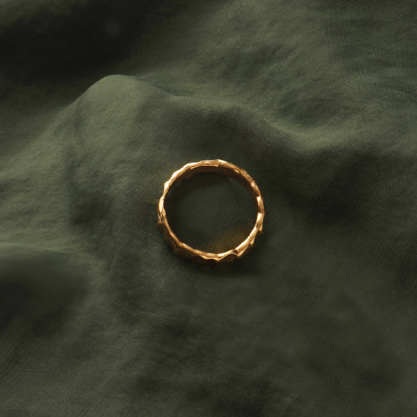 Beaten Stacking Ring