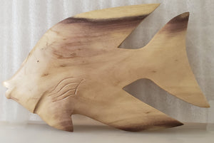 Hand carved Fish Wall Hanging from Local Burau wood