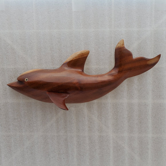 Hand Carved Dolphin Wall Hanging in Local Miro - Medium