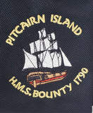 Pitcairn Island T Shirt - HMAV Bounty Motif - Quick Dry Fabric
