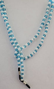 Spectacle Holder Necklace in Recycled Glass beads