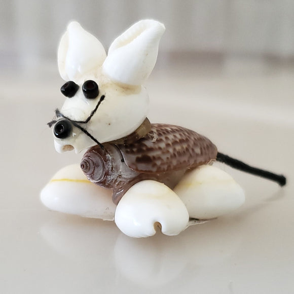 Håndlaget Shell Mouse Ornament