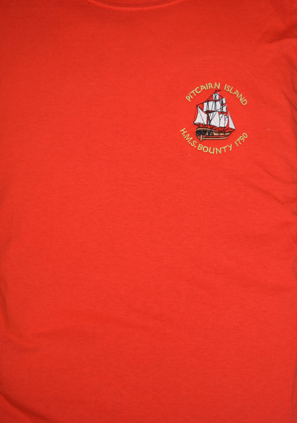 Pitcairn Island T Shirt with HMAV Bounty Motif