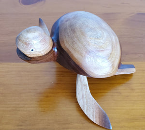 Hand carved Turtle from Local Miro Wood