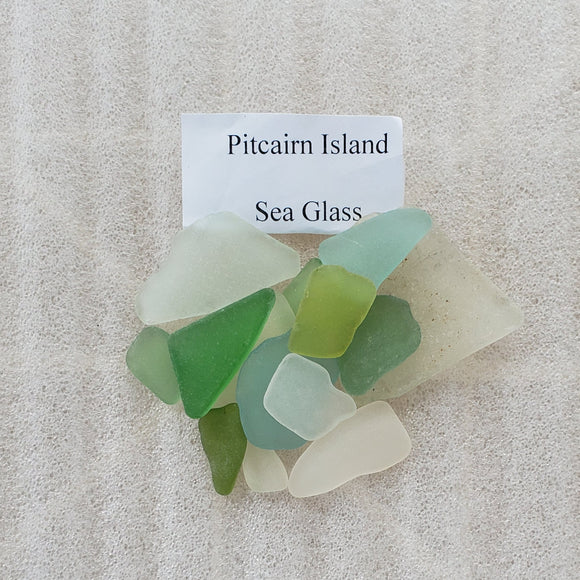 Pitcairn Island Sea Glass - Samlat från Down Rope