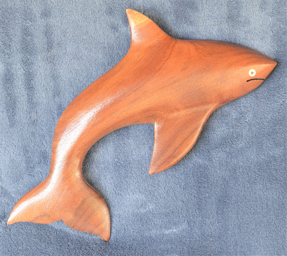 Hand carved wooden Orca