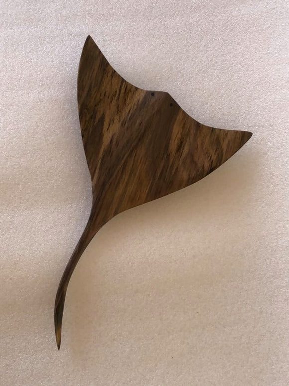 Handmade Stingray Wall Hanging from Local Burau Wood - Medium