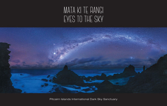 Pitcairn Island Postcard - St Paul's Pool Under the Milky Way
