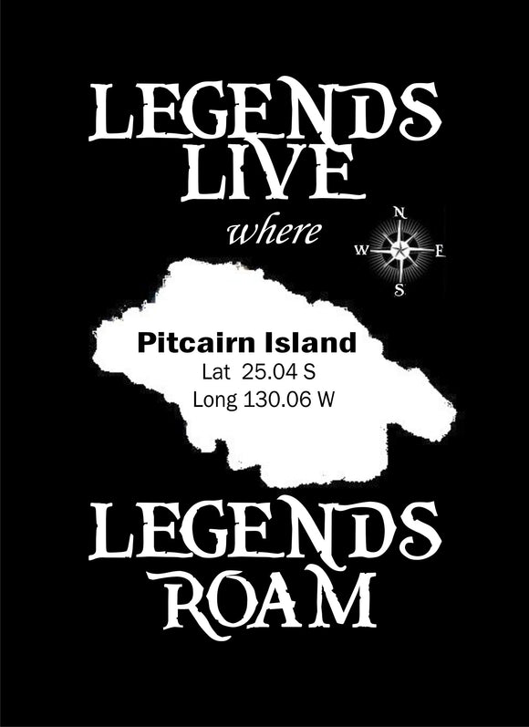 Pitcairn Islands T-skjorte - Legends Live Where Legends Roma - Childs