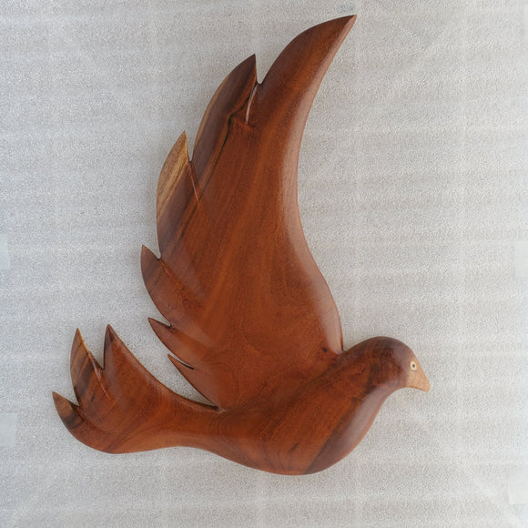 Hand Carved Fairy Tern Wall Hanging from local Miro wood
