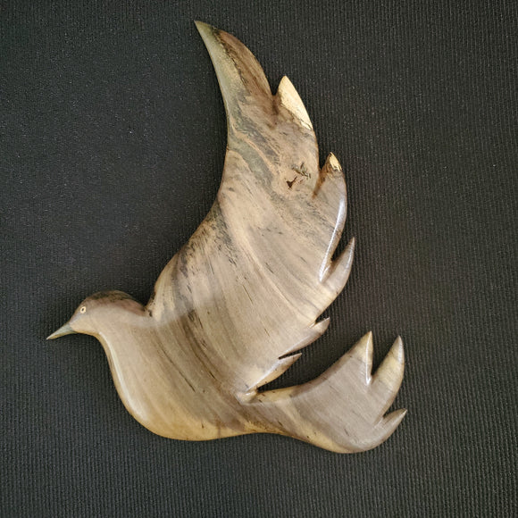 Hand Carved Fairy Tern Wall Hanging from Local Burau Wood