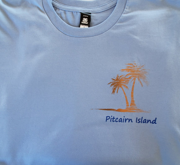 Chemise Pitcairn Island T - Design Coconut Palm