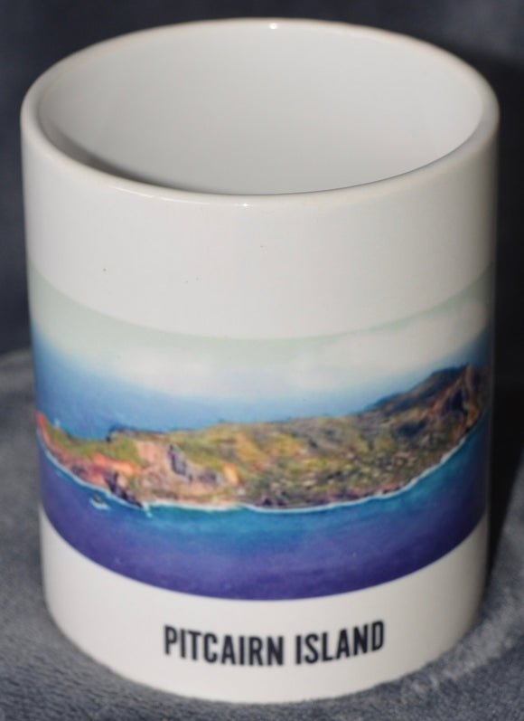 Pitcairn Islands Coffee Mug - Aerial View of Pitcairn