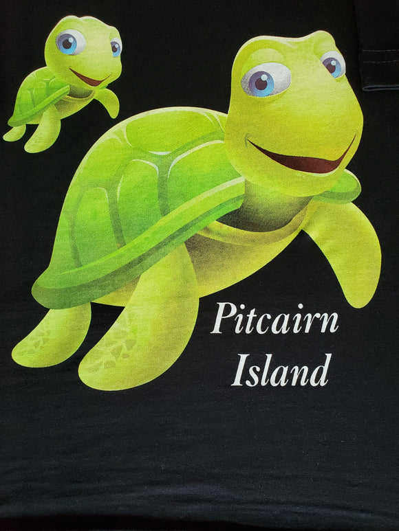 Childs T Shirt - Two Cute Turtles Available in Black, Green and Blue