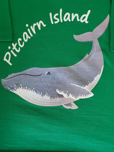 Childs T Shirt - Pitcairn Island Humpback Whale - available in Blue, Green & Black