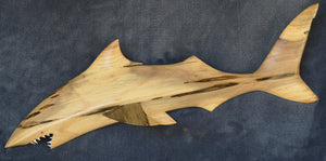 Hand carved shark