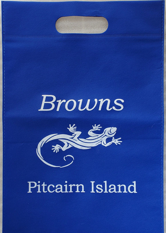 Pitcairn Island Branded Midi Tote Bag  - Royal Blue
