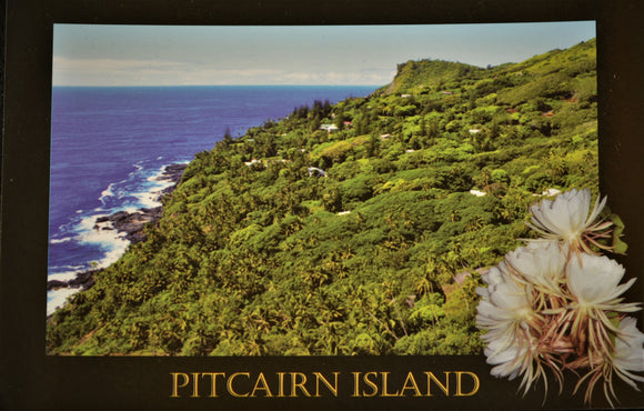 Pitcairn Island Postcard - Looking Down to Adamstown