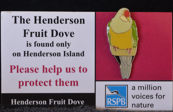 Lapel pin featuring Henderson Island Bird
