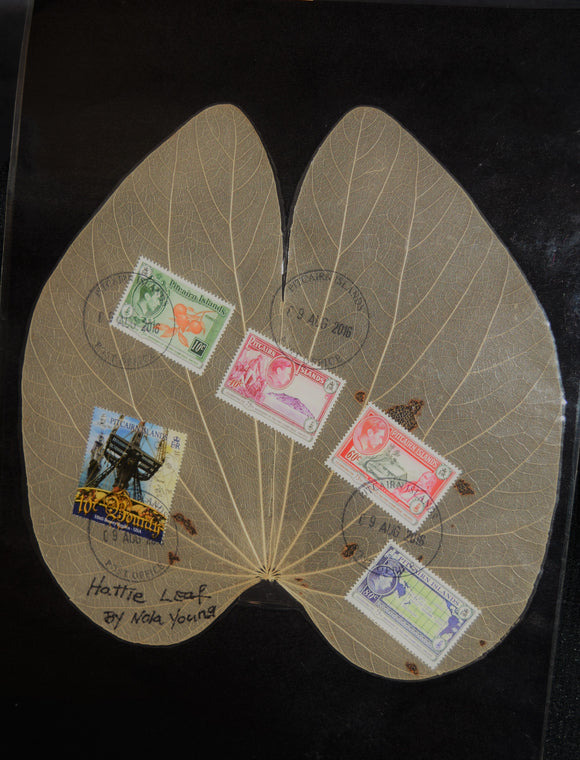 Leaf featuring Pitcairn Island stamps