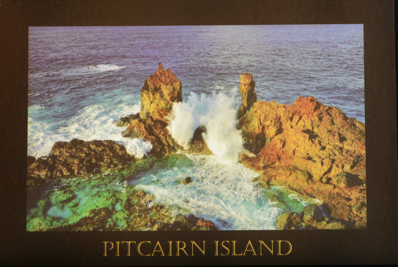 Pitcairn Island Post Card - St Paul's Pool Stamped