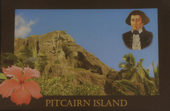 Pitcairn Island Postcard - Christian's Cave Stamped