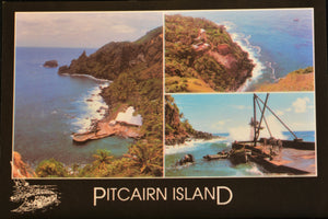 Pitcairn Island Postcard - Bounty Bay and the Landing Stamped