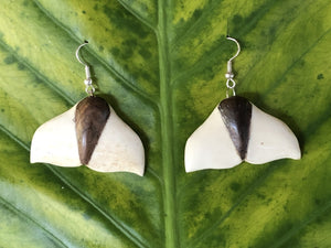 Hand carved bone earrings