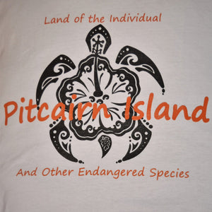 Pitcairn Island T Shirt Land of the Individual Pacifica Turtle