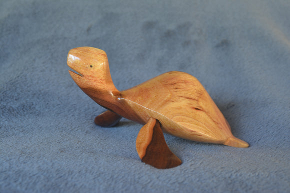 Hand carved Turtle from local Miro wood - small