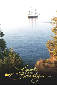 Spirit of the Bounty Postcard - HMAV Bounty Anchored off-shore