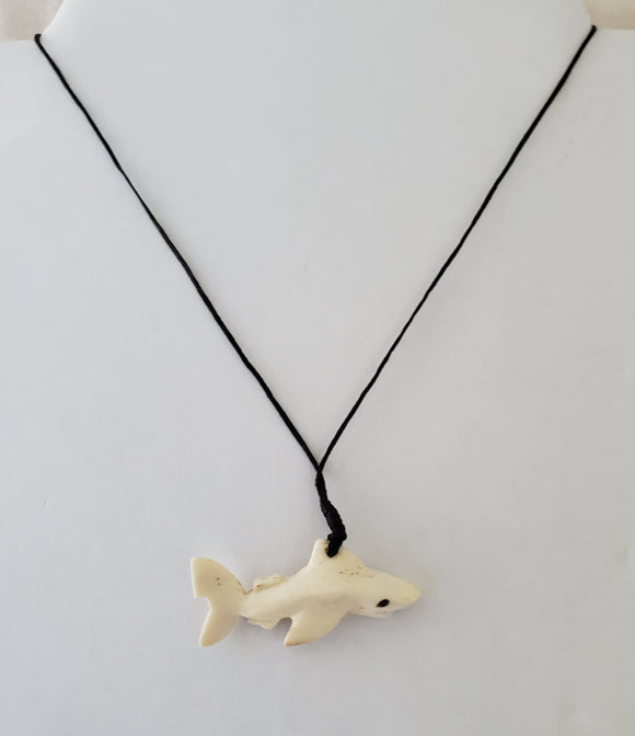 Hand carved Shark - Cattle Bone