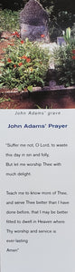 Bookmark - John Adams Grave, Card Stock
